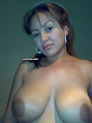 Dark haired mom shows her big natural tits and plays with them, They are awesome and you should see and enjoy it