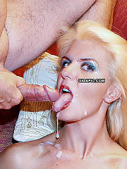 Blow job facial