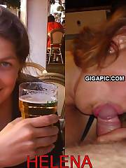 Swedish housewife Helena drunk suck