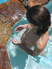 Skinny dipping in the backyard, i enjoy being nude in public but in our yard so its safe