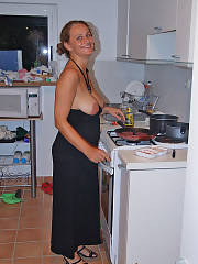 Cooking and stripping, this is just a normal night for her shes penetrating wild