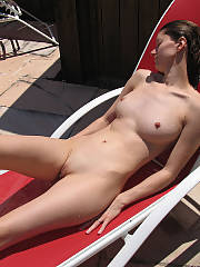 My gf sunning herself
