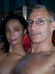 Mom and her new hubby on vacation, what the fuck taking pictures with her titties out?