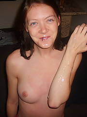 My last ex. she enjoyed to be nude for pics, even if it was my cum on her face. damn she was cute.