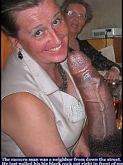 Mature grannies and moms who like to swing, check out that big penis in her hands!