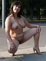 My bitch posing in public
