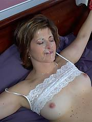 My wifey was fuckin boys that work for me, boys at the gym and who knows where else.  she was bringing them home and fuckin in our bed!!! this is her getting nailed in our bed by some guy, plus she let him cum on her face which she never let me!! i want