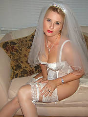 My wife wore a sleazy wedding dress for our anniversary, it was fantastic