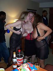 Mom swingers party featuring a black stud with a big hose dick