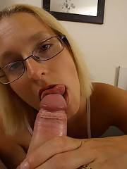 My wife is the dirtiest bitch ever, the girlie sucking me in the one shot is my wifes personal assistant. i know!