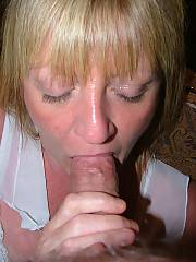Blond mom gives me head