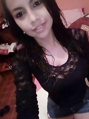 Hispanic hot  teenager amateur Teen Puta Latina Girl Morena Lenceria Sexy dark skinned Teen