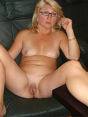 Blonde MILF in glasses