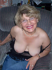 Hot grandmother getting naked