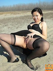 Check some pics of my super nasty asian wife.