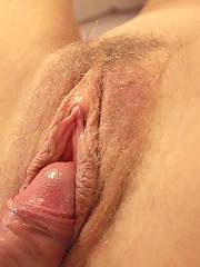 Whenever she shows off her cunt her enjoy button is aroused and there is always the glisten of a well lubricated entrance. i like to taste her warm sweet juices as she puts her open slit onto my mouth.