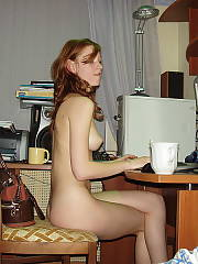 Skinny irish redhead shows off her rocking body for all to see