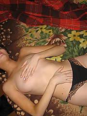 Euro ex girlfriend undresses for her horny boyfriends pleasure.