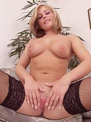 Blond beauty in stockings