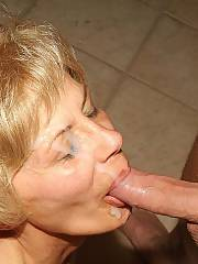 Hot old lady rita blowing pecker and got banged and facialized.