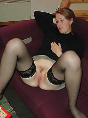 Hot ex in stockings jerking her pussy