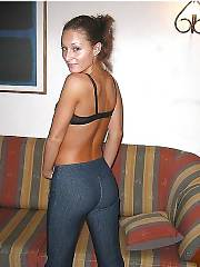 My sexy exgf loves posing on couch.
