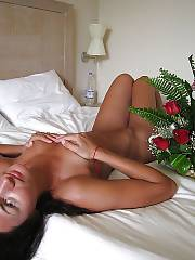 Hot russian exgirlfriend playing on bed