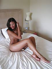 Hot russian exgirlfriend playing on bed.