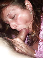 Horny amateur wife giving her greatest blowjob