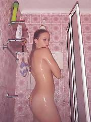 Hot bulgarian babe undresses and plays her wet pussy.