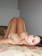 Sexy babe hides