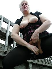 Naughty old light haired lady likes sucking hard cocks.