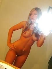 Hot and sexy 18yo amateur chick selfshoot pics.