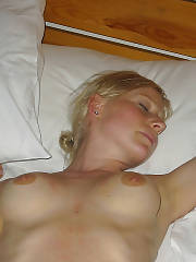 Sexy blond german girlie in holiday.