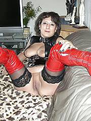 Sexy german housewife spreading and exposing her sloppy pussy.
