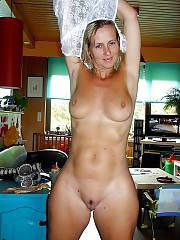 Blond MILF undresses