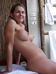 Sweet topless mamma exposing her huge wonderful titties.
