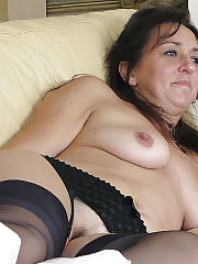 Sexy mother jen getting nude at home.