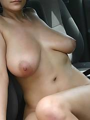 Nasty busty mom like to show her homemade parts