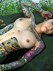Hot tattooed asian