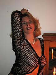 MILF showing her natural titties and nips through hot shirt