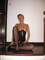 Sexy MILF in stockings