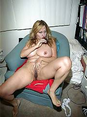 Hot blond MILF massaging