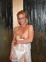 Sexy light haired mom pleasuring herself