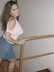 Exposing off her assets in a tight skirt, see what i did there?