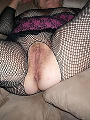 I love my granny, shes always wet and ready for a ride and shes so sexy in those fishnets.