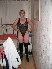 Granny modelling her swimsuit collection and being a little naughty in the process