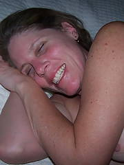 Lynnie satisfied after a great fuck... it usually doesnt take much, but sometimes shes great for more than 1 round lol