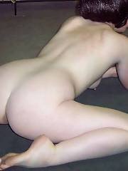 All bare and spread open - i hope you like my backside and pink spread cunt lips.  i havent had a complaint yet
