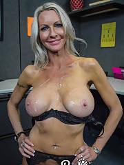Mature huge breasts
